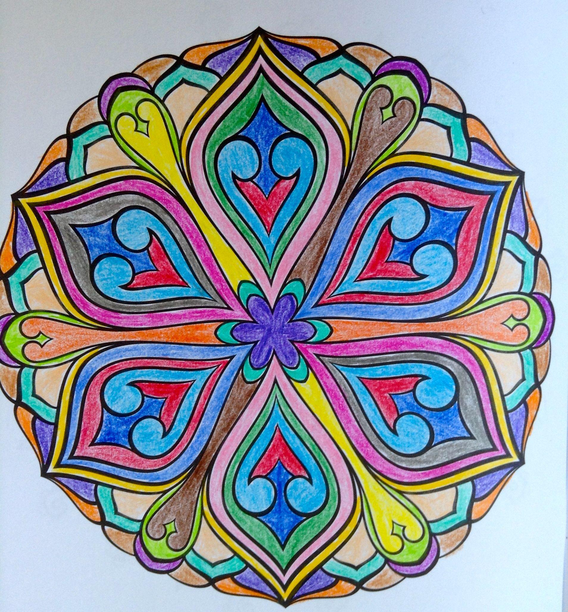 Eccezionale disegno carnevale con colori caldi e freddi for Disegni di mandala semplici