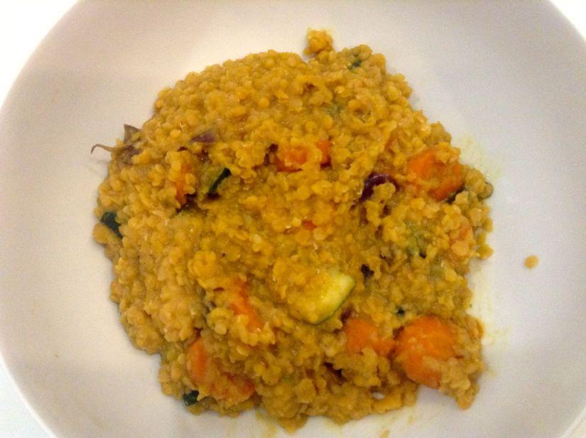 Lenticchie rosse con verdure : per piccoli egrandi