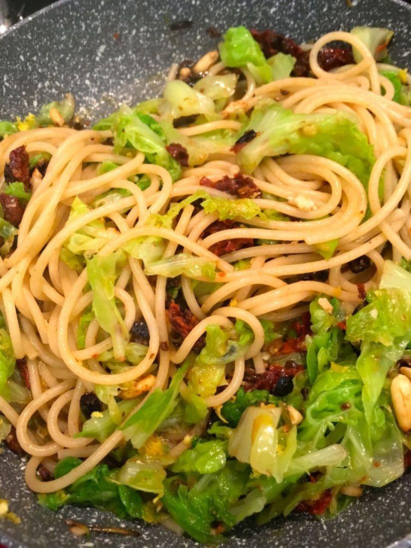 Spaghetti arlecchino: coloranol'autunno